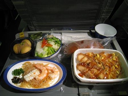 JAL オーストラリア行き機内食