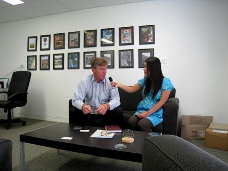 オーストラリアでラジオインタビュー
