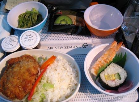 チキン 機内食 ニュージーランド航空