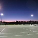 クライストチャーチでテニスを習う