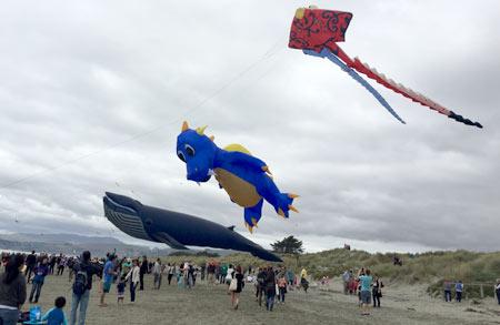 クライストチャーチのビーチで凧上げイベント♪Kite Day
