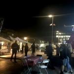 クライストチャーチ大聖堂広場、夜の屋台街♪
