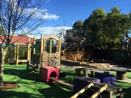 ニュージーランドの保育園 庭