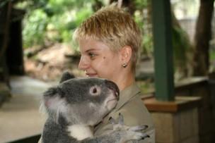 コアラと記念写真