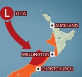 ニュージーランドで自然災害