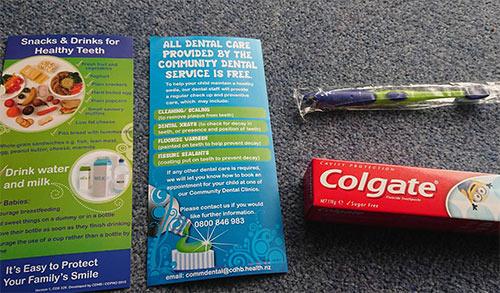 ニュージーランドの歯ブラシ