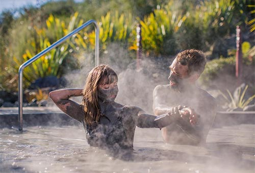 泥温泉 ニュージーランド